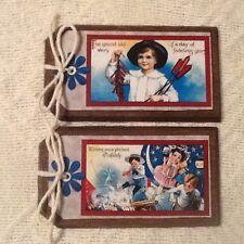 5 Wooden Americana HangTags/Ornaments/Patrio tic BowlFillers Handcrafted SetZ1