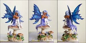 "Artist Amy Brown 'Violet' Lovely Elven Forest Faery 6.75"" Statue Figurine"