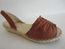 Spot On F0R757 Ladies Rope Wedge Ruched Tan Sandal  UK Sizes 3 to 8 (10A middle)