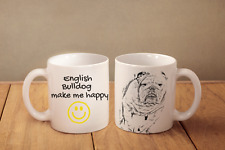 "Englische Bulldogge - ein Becher ""makes me happy"" Subli Dog, CH"