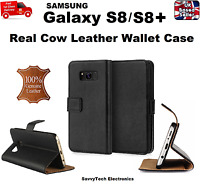 Genuine Leather Book Case Cover Wallet For Samsung Galaxy S8 / S8 Plus/ Note 8