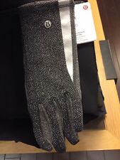 Lululemon Run With Me Gloves Heathered Herringbone Heathered Black XS/S or M/L