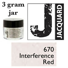 Pearl Ex Mica Powdered Pigments - 3g bottles - INTERFERENCE RED 670