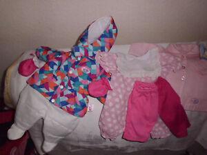 großes Baby Born Konvolut Kleidung im Koffer