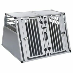 Aluminum Double Dog Crate Transport Carrier Waterproof Extra Large 97x92x68cm