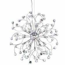 Searchlight Lighting 6629-24CC Sonja 24 Light Chrome Pendant With Crystal Pieces