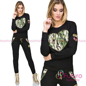 Ladies Shiny Loungewear Tracksuit Casual, outwear, streetwear, fitness FZ117