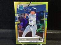 2020 Panini Donruss Optic Gavin Lux Lime Green Prizm Rated Rookie RC #44 Dodgers