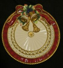 Fitz & Floyd Florentine Holiday Plate with Bells - Festive!