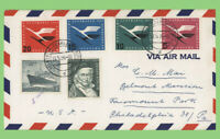 Germany 1955 Airmail cover with Lufthansa set to USA