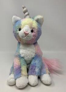 "GUND Shimmer Cat Unicorn Caticorn Rainbow Plush Stuffed Animal Toy 9"" 6052135"