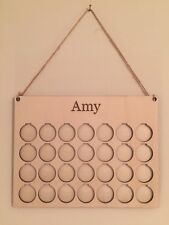 Personalised Weight Loss Motivation Savings Board/Chart/Journey/plaque in Wood