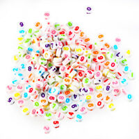 200x Mixed Colored Number Flat Round Charm Spacer Loose Beads Fit DIY Jewelry