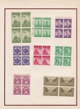 P172 ETATS-UNIS Petite collection sur charniéres 8 bloc de 4 neuf pour débutant
