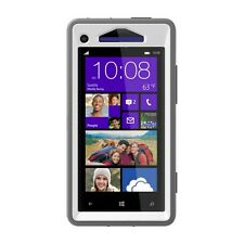 OtterBox Defender Case sac housse HTC windows phone x8-Gris/Blanc-Glacier