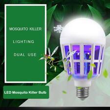 15W 110-220V LED Anti-Mosquito UV Bug Zapper Insect Repeller Killer Light Blub