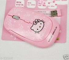 2.4GHz 10m New mini hello kitty wireless mouse pink cartoon cute Optical mouse