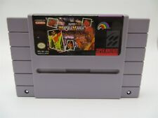 Super Nintendo SNES Super Wrestle Mania Video Game Cartridge