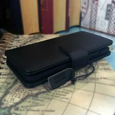 Samsung Galaxy S20 ULTRA  Real Leather Pelle Wallet Folio Book Case Black  MK0
