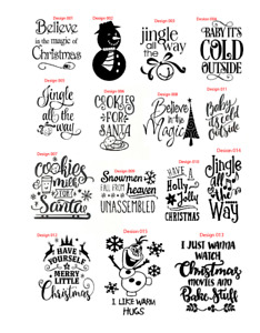 christmas jingle santa quote decal sticker home