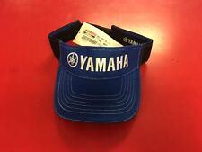 Yamaha Outboards Blue Black Visor Fishing Hat Boating Bass Genuine CRP-14HVI-BL-