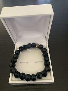 Genuine Thomas Sabo 'Black Obsidian Charm Bracelet'