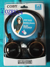Cuffie COBY Deep Bass CV 185 PC Iphone Ipod Touch Nano Shuffle Lettore MP3 Audio