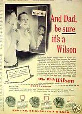 1960 Aparicio~Harvey Kuenn Tigers Wilson Baseball Gloves~Mitts Memorabilia Ad