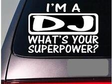 I'm a DJ sticker decal *E165* turntables disc jockey pary