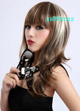 2013 new brown blonde mixed Like real Human hairs wig/wigs H125