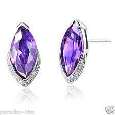 coppia orecchini da donna elegante ovale strass viola R51