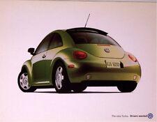 2001 01 VW Beetle Turbo Poster  brochure