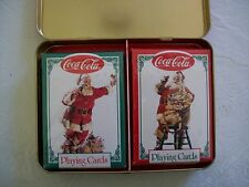 COCA COLA PLAYING CARDS 1994 LIMITED EDITION 2DECKS COLLECTIBLE TIN FACTORY SEAL
