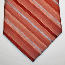 NEW Arrow Silk Neck Tie Orange with Dark Orange and Light Blue Stripes 859