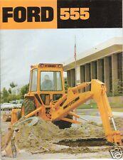 Equipment Brochure - Ford - 555 -  Tractor Loader Backhoe - c1980 (E1154)