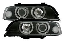 2 FEUX PHARE AVANT ANGEL EYES BMW SERIE 5 E39 PHASE 1 DE 09/95 A 08/2000