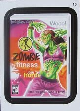 WACKY PACKAGES SERIES ANS #10 - ZOMBIE FITNESS GAME - STICKER #15 - MINT!!