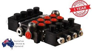 4 SPOOL Hydraulic Direct Solenoid Control Valve On-Off 12V 50 l/min