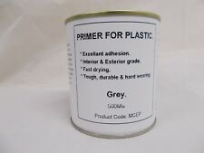 500ml Grey Primer Paint For Plastic, Fiberglass, Melamine, GRP. Brush - Spray On