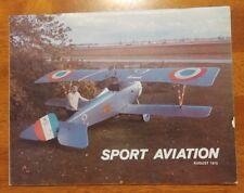 Sport Aviation Magazine August 1975 EAA Tom McCann Nieuport 17 Mojave 75