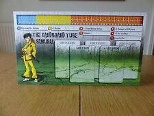 Zombicide-tubo di cartone samurai-personaggio Dashboard Card (solo scheda)