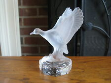 "Goebel Crystal 4"" Frosted DUCK Bird Figurine"
