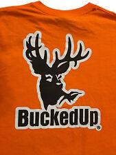 BuckedUp Deer Hunter Orange Safety T-Shirt Sz.2XL