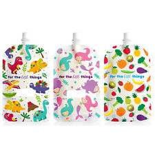 200ml Sinchies Reusable Food Pouches BPA Free Safe Baby Infant Squeeze 5 10 Pack