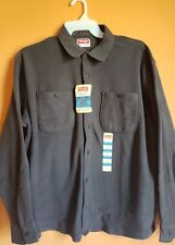 Wrangler Men's shirt XL warm Relaxed fit grey button down Premium Quality NWT