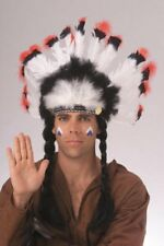 Deluxe  Native American Indian Headress Brave Warrior Chief Costume