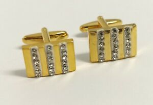 Gold Elegant  Crystals - Ideal Gift for Men - Comes In FREE Gift Pouch