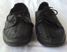 Black Easy Time Leather Shoes 11 M Lace Up Shoes