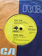 """RENEE GEYER - - TENDER HOOKS - - 1977 Australian RCA 7"""" - Oz Funk / Soul"""