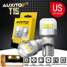 2pcs Canbus Led Reveres Back Up Wedge Light Bulbs Lamps 6000k Xenon White T15